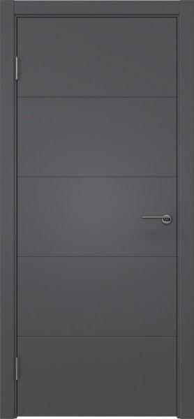 Межкомнатная дверь ZM033 (эмаль графит, глухая)