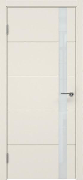 Межкомнатная дверь ZM033 (эмаль слоновая кость, лакобель белый)