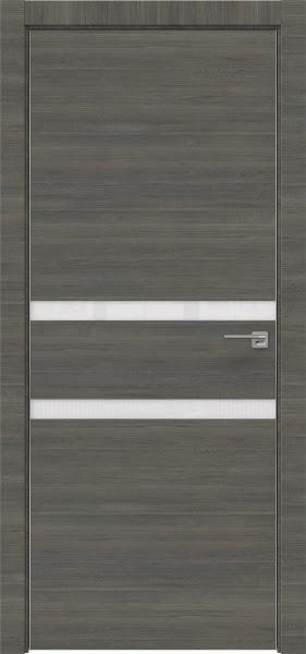 Межкомнатная дверь ZM034 (экошпон ольха, лакобель белый)