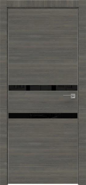 Межкомнатная дверь ZM034 (экошпон ольха, лакобель черный)