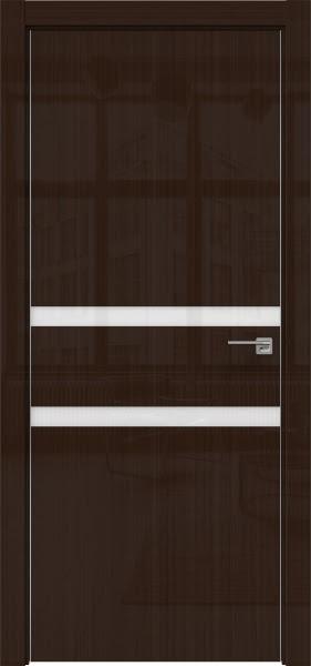 Межкомнатная дверь ZM034 (венге глянцевая, лакобель белый)