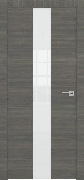 Межкомнатная дверь ZM035 (экошпон ольха, лакобель белый)