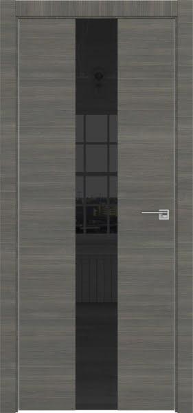 Межкомнатная дверь ZM035 (экошпон ольха, лакобель черный)