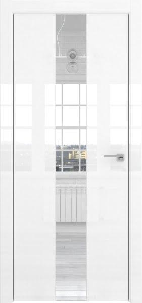 Межкомнатная дверь ZM035 (белая глянцевая, зеркало)