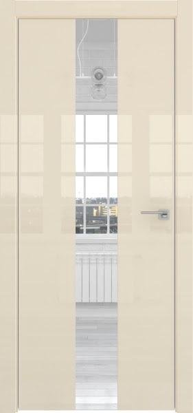 Межкомнатная дверь ZM035 (ваниль глянцевая, зеркало)