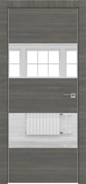 Межкомнатная дверь ZM036 (экошпон ольха, зеркало)