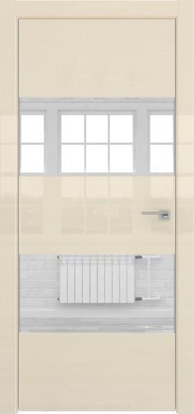 Межкомнатная дверь ZM036 (ваниль глянцевая, зеркало)
