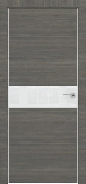 Межкомнатная дверь ZM037 (экошпон ольха, лакобель белый)
