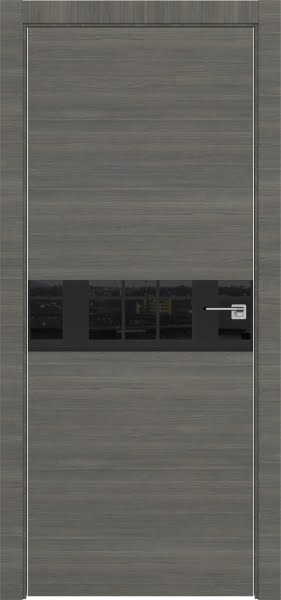 Межкомнатная дверь ZM037 (экошпон ольха, лакобель черный)