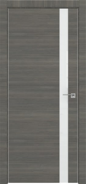 Межкомнатная дверь ZM038 (экошпон ольха, лакобель белый)