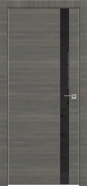 Межкомнатная дверь ZM038 (экошпон ольха, лакобель черный)