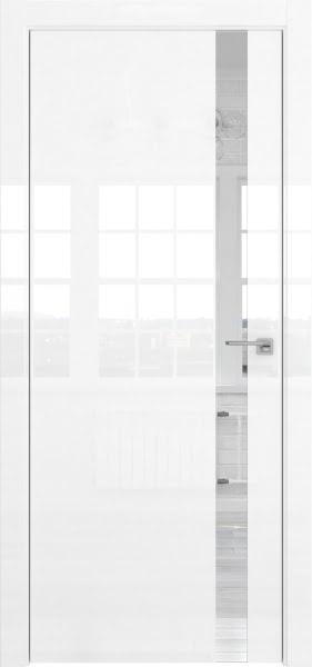 Межкомнатная дверь ZM038 (белая глянцевая, зеркало)