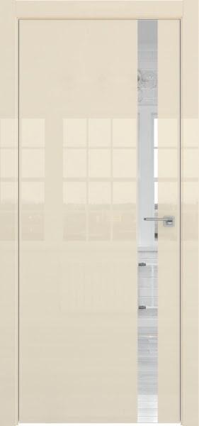 Межкомнатная дверь ZM038 (ваниль глянцевая, зеркало)