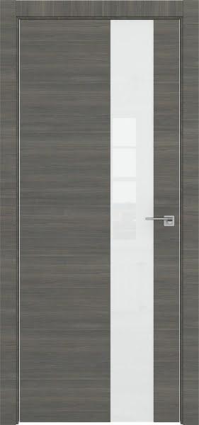 Межкомнатная дверь ZM039 (экошпон ольха, лакобель белый)