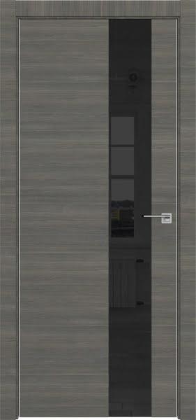 Межкомнатная дверь ZM039 (экошпон ольха, лакобель черный)