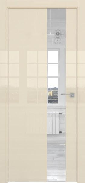 Межкомнатная дверь ZM039 (ваниль глянцевая, зеркало)