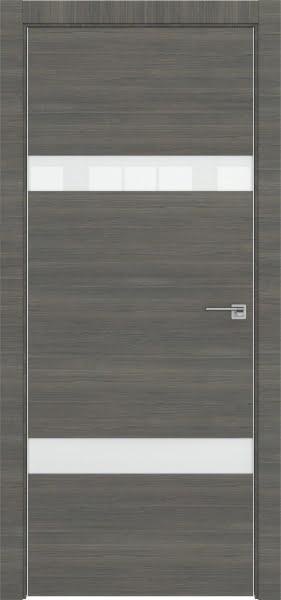Межкомнатная дверь ZM040 (экошпон ольха, лакобель белый)