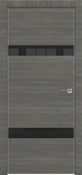 Межкомнатная дверь ZM040 (экошпон ольха, лакобель черный)