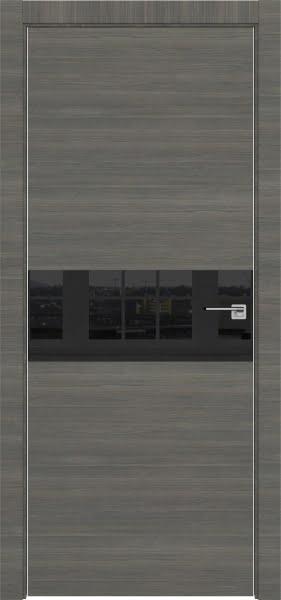 Межкомнатная дверь ZM041 (экошпон ольха, лакобель черный)