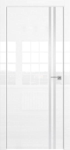 Межкомнатная дверь ZM043 (белая глянцевая, глухая)