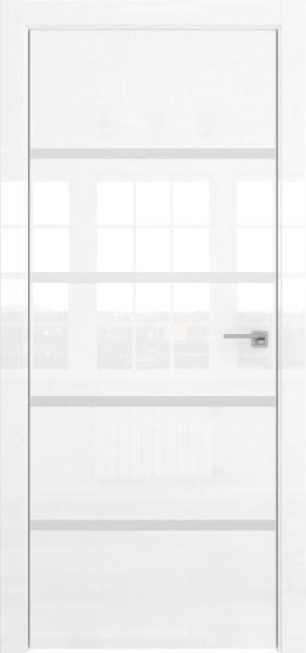 Межкомнатная дверь ZM044 (белая глянцевая, глухая)