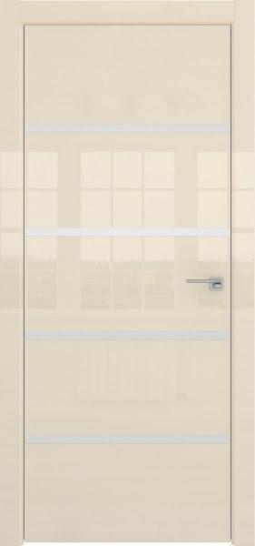 Межкомнатная дверь ZM044 (ваниль глянцевая, глухая)