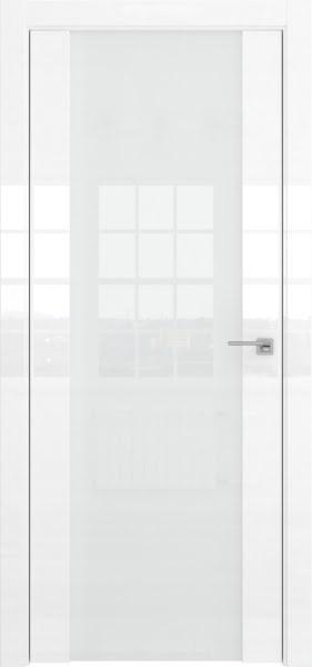 Межкомнатная дверь ZM045 (белая глянцевая, триплекс белый)