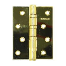 Петля дверная 4BB-PB (универсальная врезная, цвет: золото)