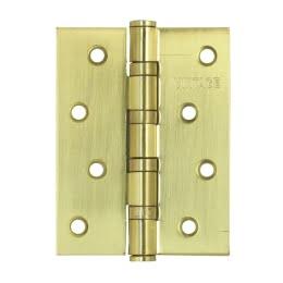 Петля дверная 4BB-SB (универсальная врезная, цвет: матовое золото)