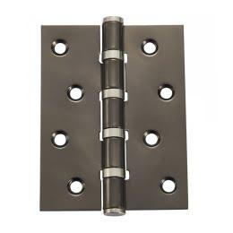Петля дверная B4-BN (универсальная врезная на подшипниках, цвет: черный никель)