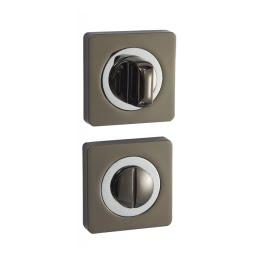 Завертка дверная BK02BN-CP (сантехническая, черный никель — хром)