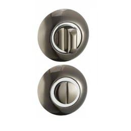 Завертка дверная BKBN-CP (сантехническая, черный никель — хром)