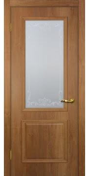 Межкомнатная дверь SK012 (экошпон «дуб джерси» / матовое стекло) — 0002