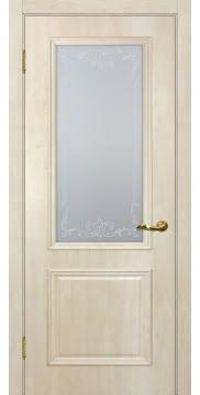 Межкомнатная дверь SK012 (экошпон «дуб млечный » / матовое стекло) — 0004