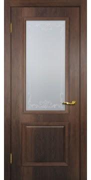Межкомнатная дверь SK012 (экошпон «дуб коньяк» / матовое стекло) — 0006