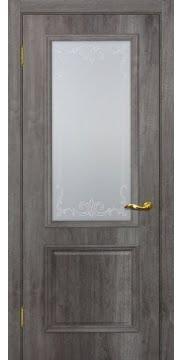 Межкомнатная дверь SK012 (экошпон «трюфель» / матовое стекло) — 0008
