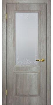 Межкомнатная дверь SK012 (экошпон «трюфель светлый» / матовое стекло) — 0010
