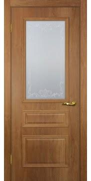 Межкомнатная дверь SK013 (экошпон «дуб джерси» / матовое стекло) — 0012