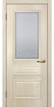Межкомнатная дверь SK013 (экошпон «дуб млечный » / матовое стекло) — 0014