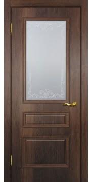 Межкомнатная дверь SK013 (экошпон «дуб коньяк» / матовое стекло) — 0016