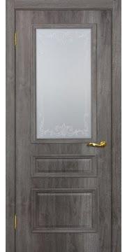 Межкомнатная дверь SK013 (экошпон «трюфель» / матовое стекло) — 0018