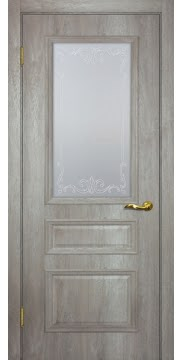 Межкомнатная дверь SK013 (экошпон «трюфель светлый» / матовое стекло) — 0020