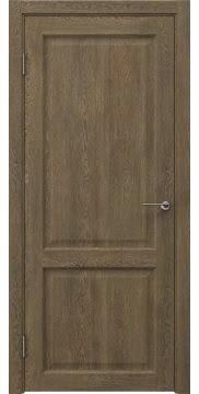 Межкомнатная дверь, FK004 (экошпон дуб антик, глухая)
