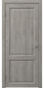 Межкомнатная дверь, FK004 (экошпон дымчатый дуб, глухая)