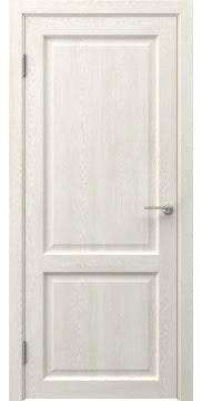 Межкомнатная дверь, FK004 (экошпон белый дуб, глухая)
