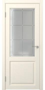 Межкомнатная дверь FK004 (экошпон «ваниль» / стекло решетка) — 0255