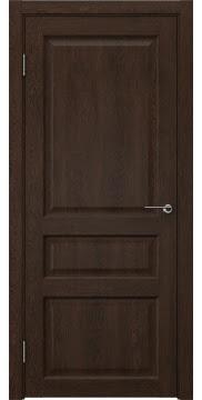 Межкомнатная дверь, FK005 (экошпон дуб шоколад, глухая)