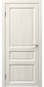 Межкомнатная дверь, FK005 (экошпон белый дуб, глухая)