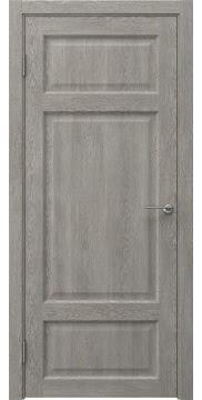 Межкомнатная дверь, FK006 (экошпон дымчатый дуб, глухая)