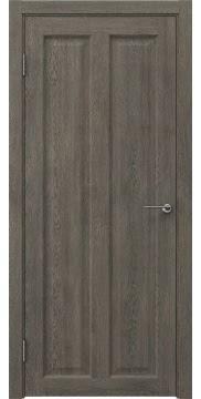 Межкомнатная дверь, FK007 (экошпон серый дуб, глухая)